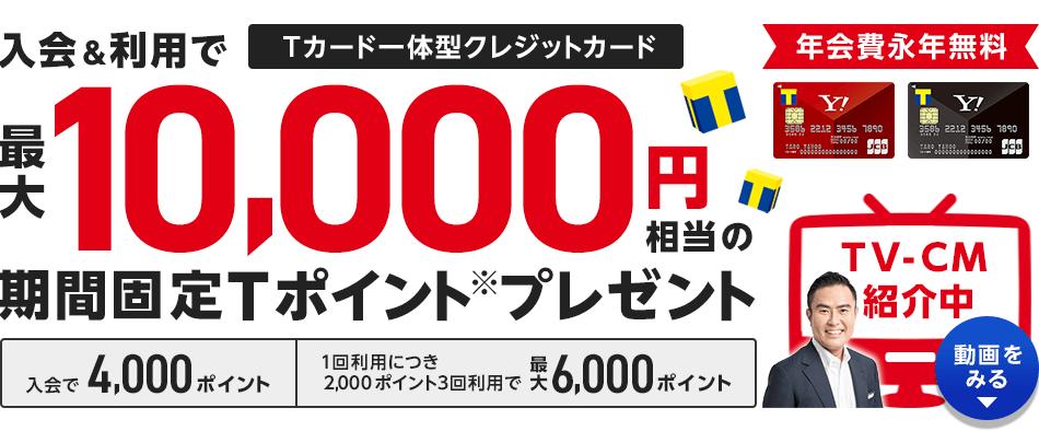 Tポイントがダブルでたまり、Yahoo! JAPANのサービスをよりおトクに使えるクレジットカード!- Yahoo!カード