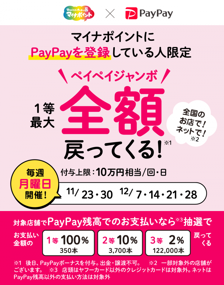 PayPay マイナポイント キャンペーン