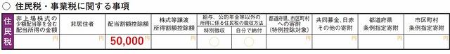 投資信託の確定申告(第二表)2