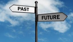 過去 未来 標識